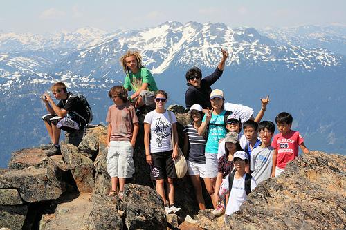 Sejour linguistique anglais Etats-Unis multi-activites ski snowboard canoe excursions aventure