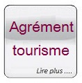 Glass button gris Agrement tourisme
